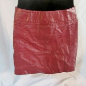 FREE PEOPLE ANTHROPOLOGIE Faux Leather Mini SKIRT